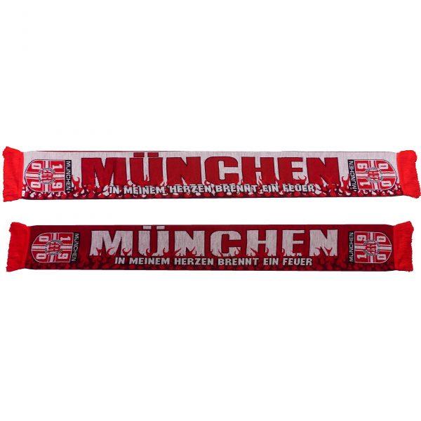 """Schal München """" In meinem Herzen brennt ein Feuer """""""