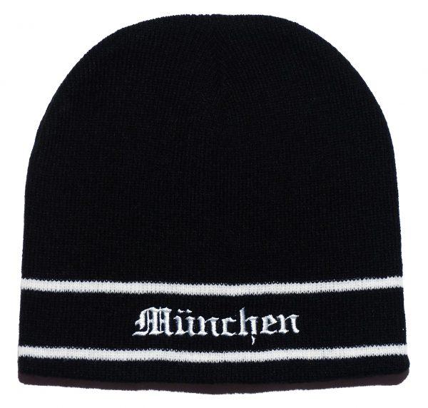 Schwarze München Mütze