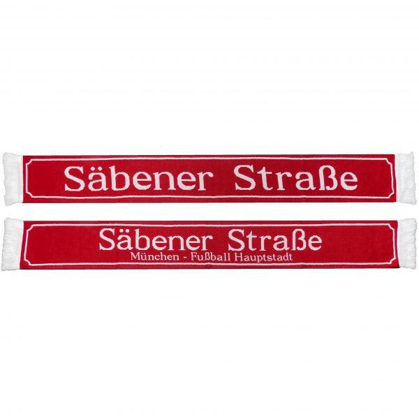 """Schal München """" Säbener Straße """" Schild"""