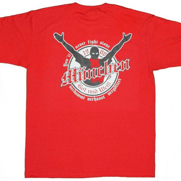 "T-Shirt "" verdammt verhasst vergöttert "" München T-Shitrs -Fanartikel"