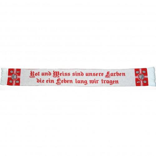 München Schal rot und weiss sind unsere Farben