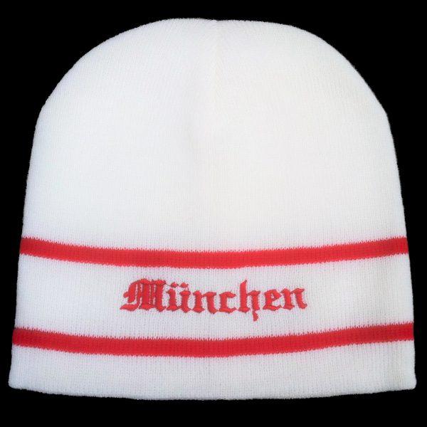 München Mütze in weiss - bestickt ,Südkurfen Fanartikel