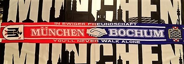 München Bochum Freundschaftsschal Jetzt auch im Online Shop, unser München Bochum Freundschaftsschal. Material 100 % Acryl