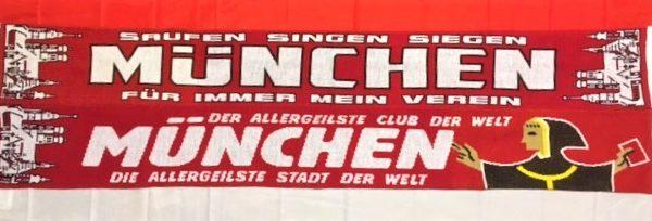 München die allergeilste Stadt der Welt! München der allergeilste Club der Welt ! Der neue Jaquardschal mit zwei verschiedenen Motivseiten