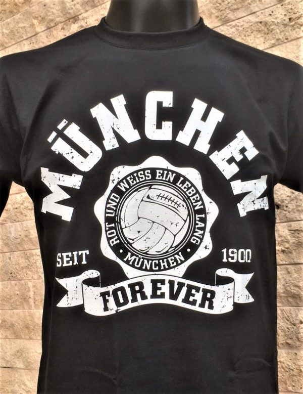 """T-Shirt """"MÜNCHEN FOREVER"""" Das neue T-Shirt """"München Forever"""" bekommt Ihr in den Größen S bis XXXL . Material: 100 % Cotton/Baumwolle , Südkurve München, Fc Bayern, Allianz Arena"""