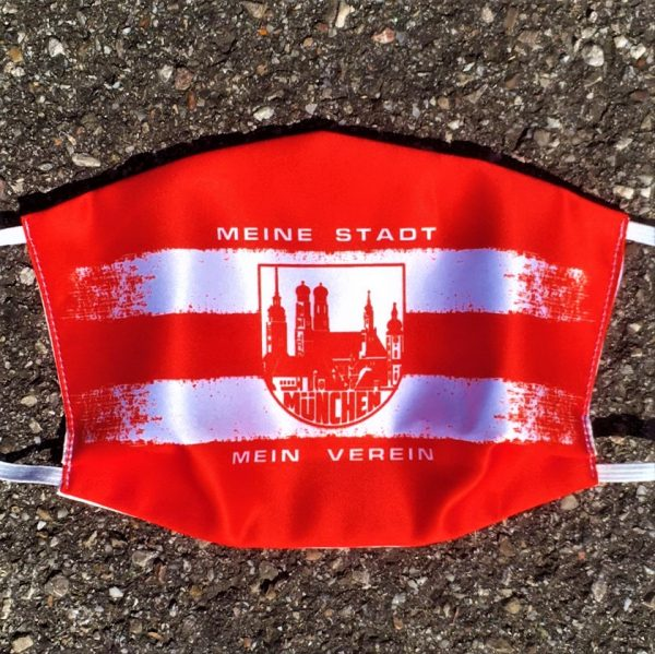 Bayern Maske in rot weiss