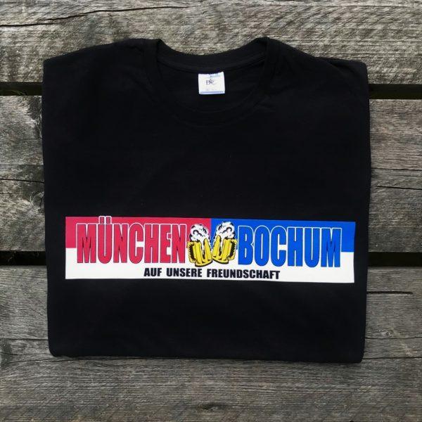 """T-Shirt München-Bochum """"AUF UNSERE FREUNDSCHAFT"""" Bayern Bochum Fanfreundschaft, Südkurve München T-Shirt, FC Bayern -Bochum Fanfreundschaft"""